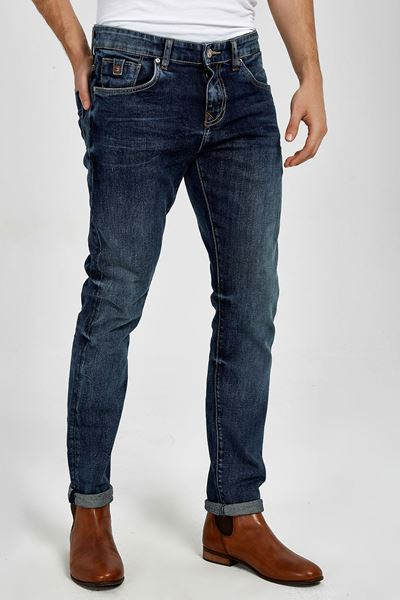 Picture of JOSHUA BLUE LAPIS WASH TROUSERS
