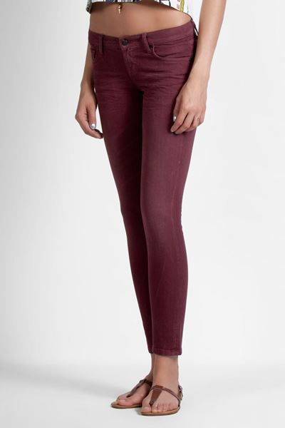Picture of MELINA USED CHERRY WASH TROUSERS